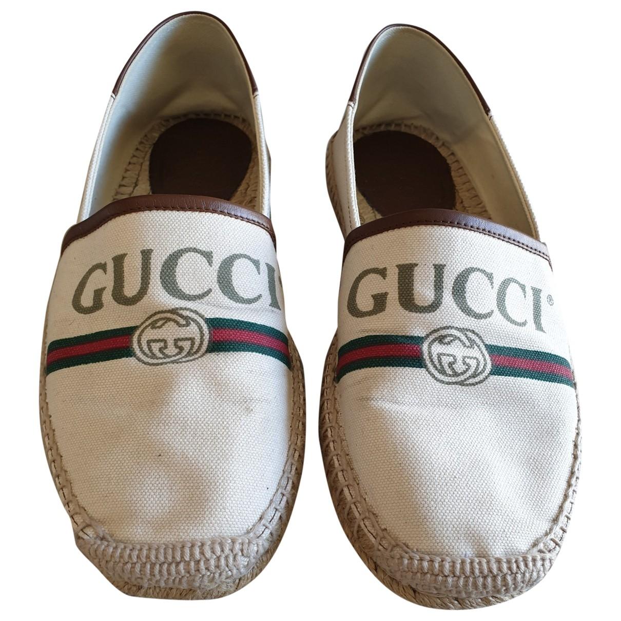 Gucci \N Espadrilles in  Beige Leinen
