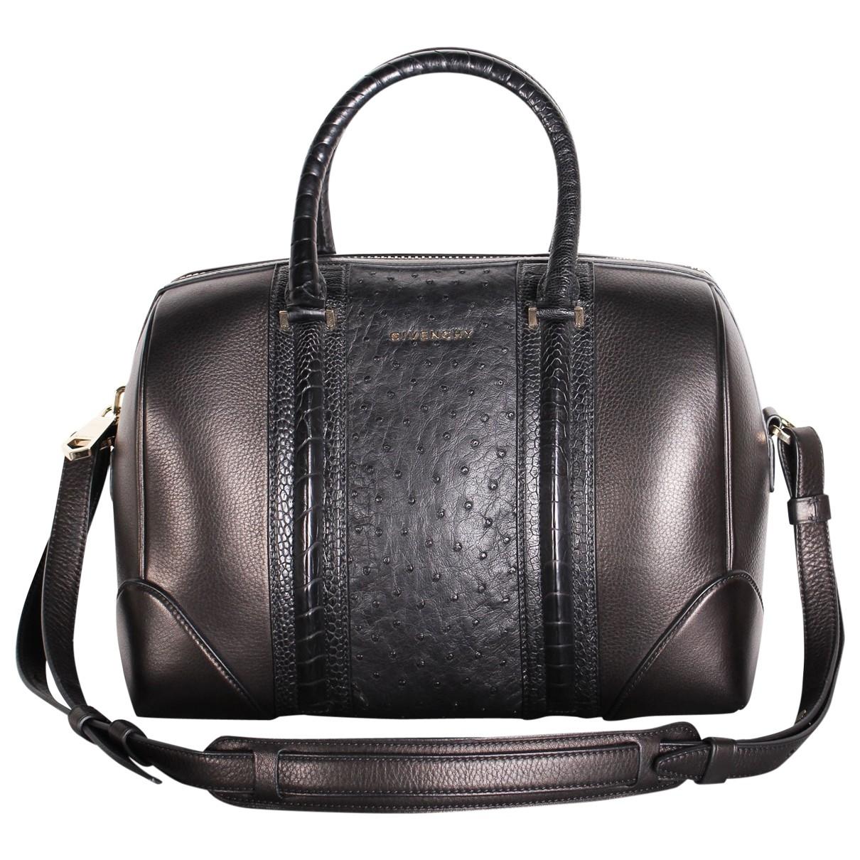 Givenchy Lucrezia Handtasche in  Schwarz Vogelstrauss