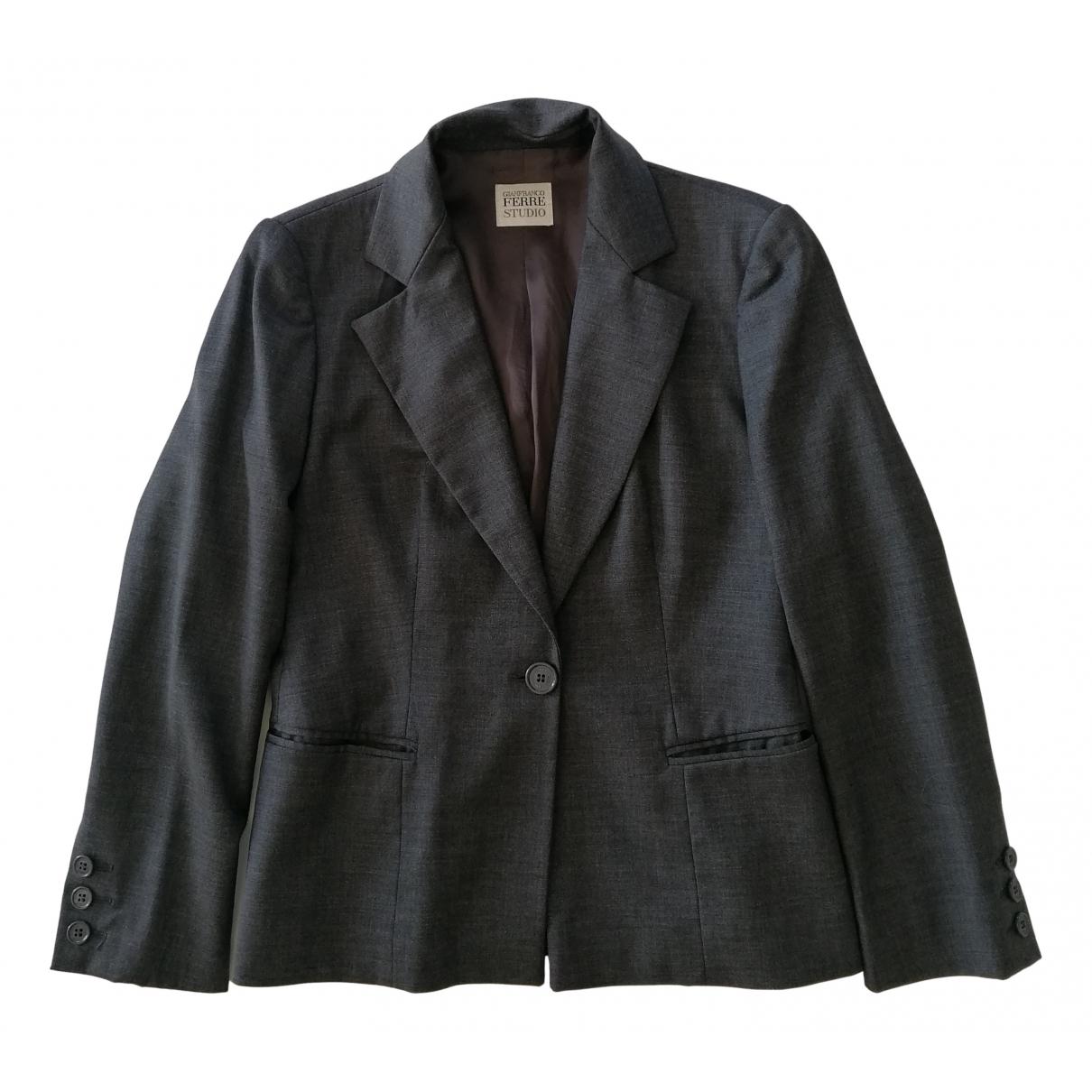 Gianfranco Ferre - Veste   pour femme en laine - gris