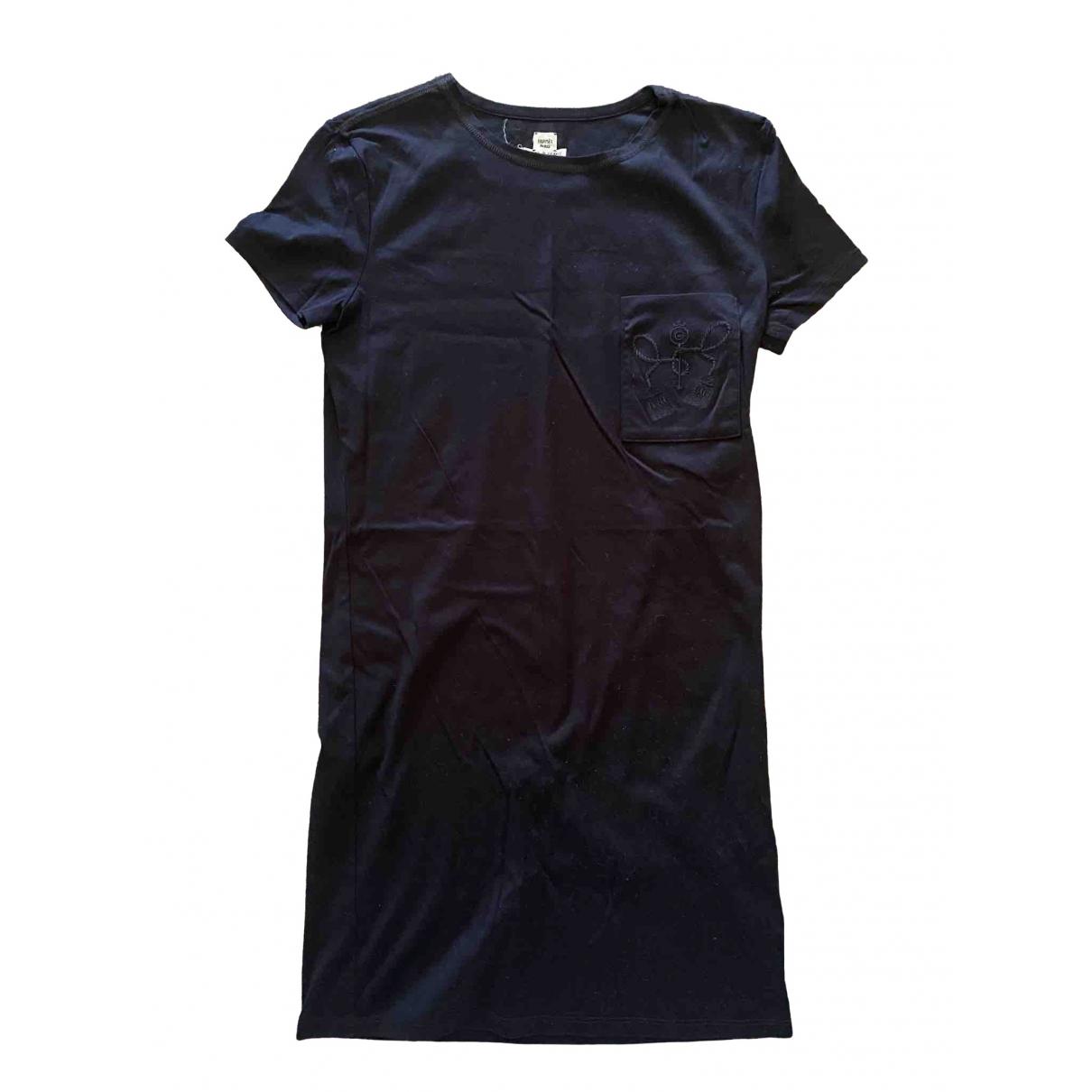 Hermès \N Black Cotton dress for Women 34 FR