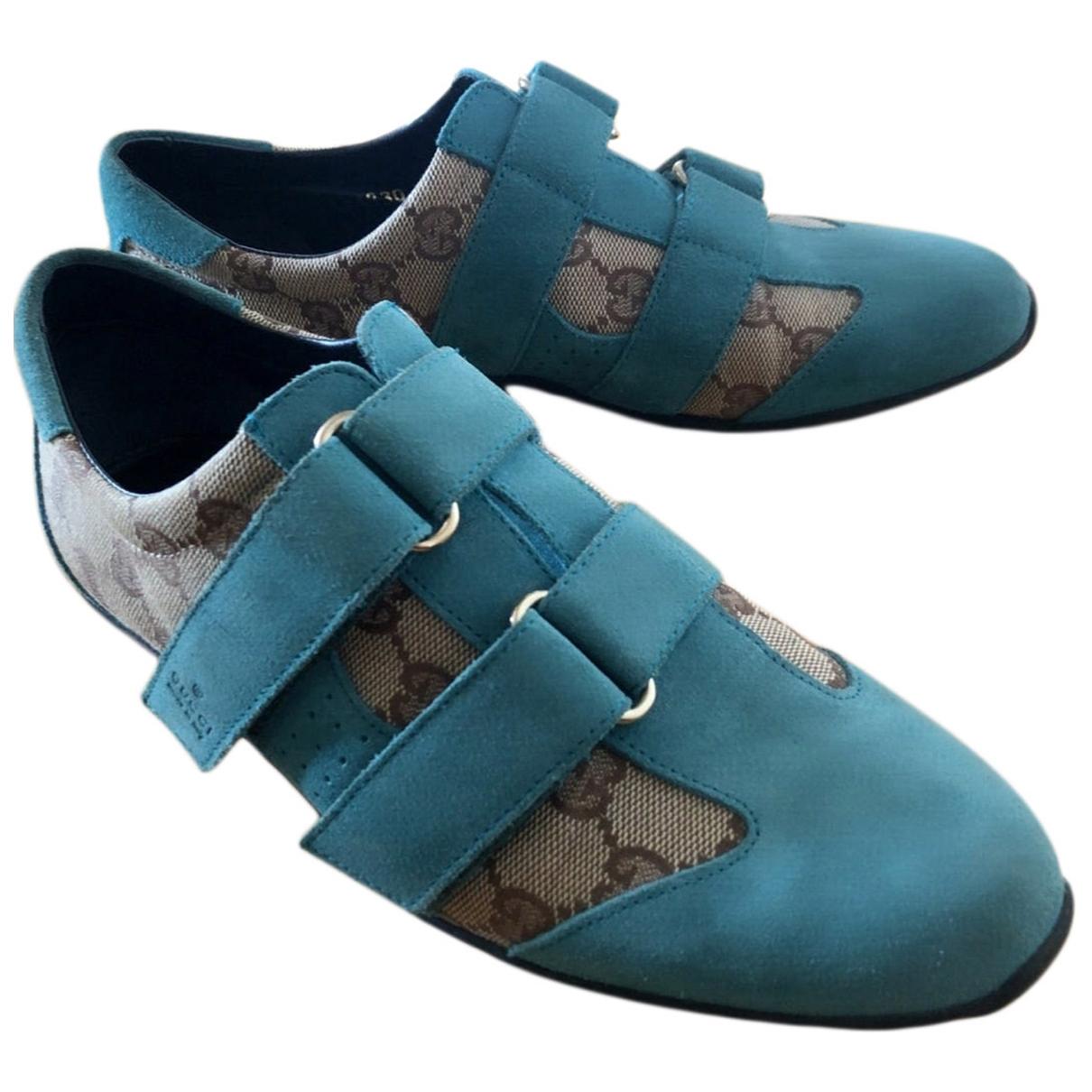 Gucci - Baskets   pour femme en suede - turquoise