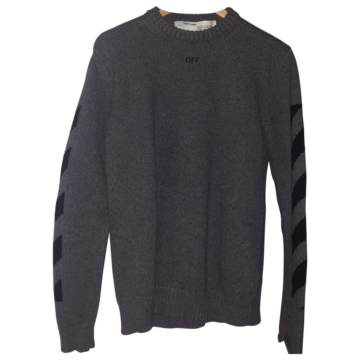 Off-white - Pulls.Gilets.Sweats   pour homme en laine - gris