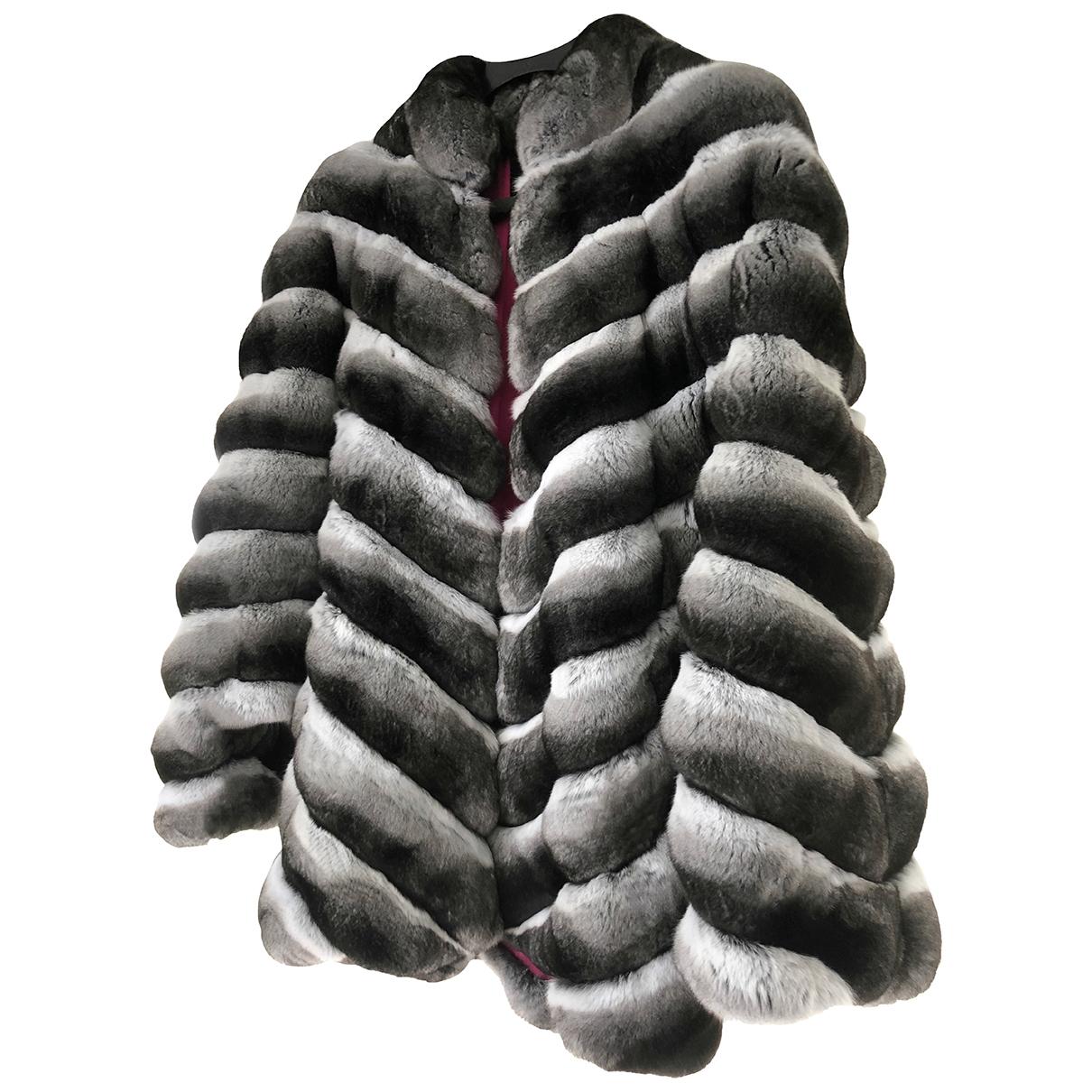 Non Signé / Unsigned \N Black Chinchilla coat for Women XL International