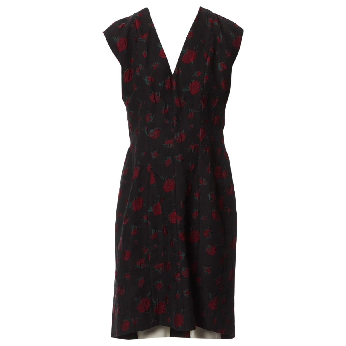 Yves Saint Laurent \N Black Cotton dress for Women 44 FR