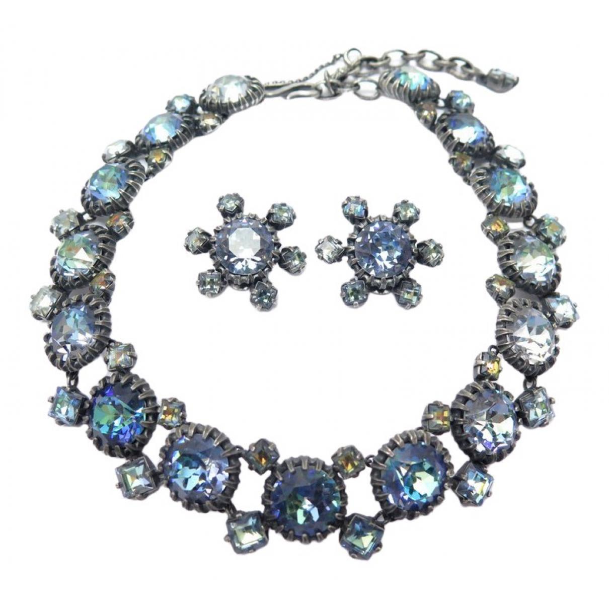 Dior - Collier   pour femme en metal - bleu