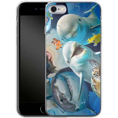 Apple iPhone 6 Silikon Handyhuelle - Ocean Selfie von Howard Robinson