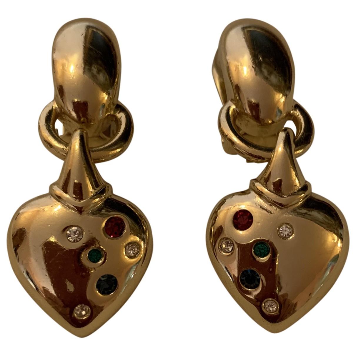Grosse - Boucles doreilles   pour femme en metal - dore