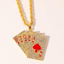 Men Poker Charm Necklace