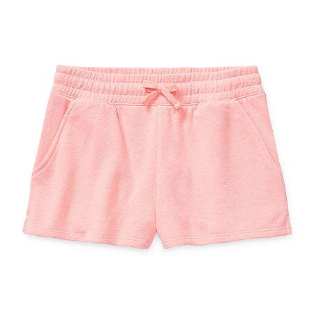 Arizona Little & Big Girls Shortie Short, Large (14) , Pink