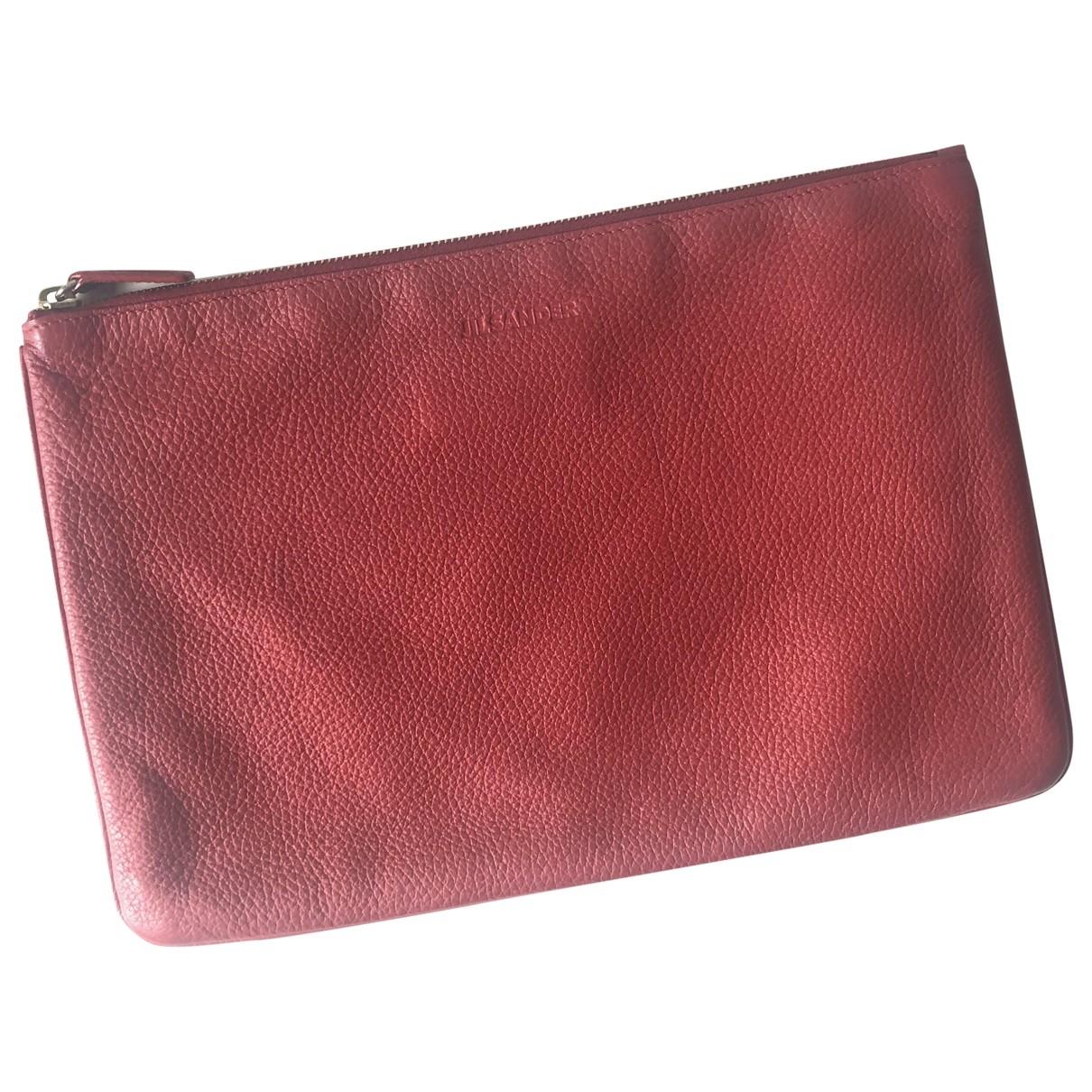 Jil Sander \N Red Leather Clutch bag for Women \N