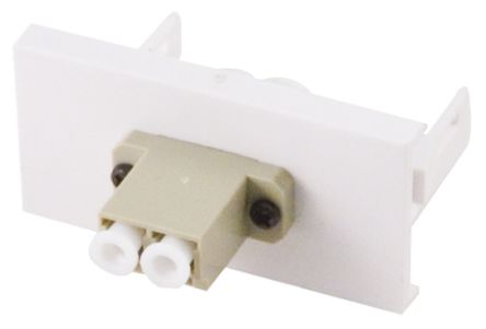 CIE Single Gang 2 Way Female LC Faceplate
