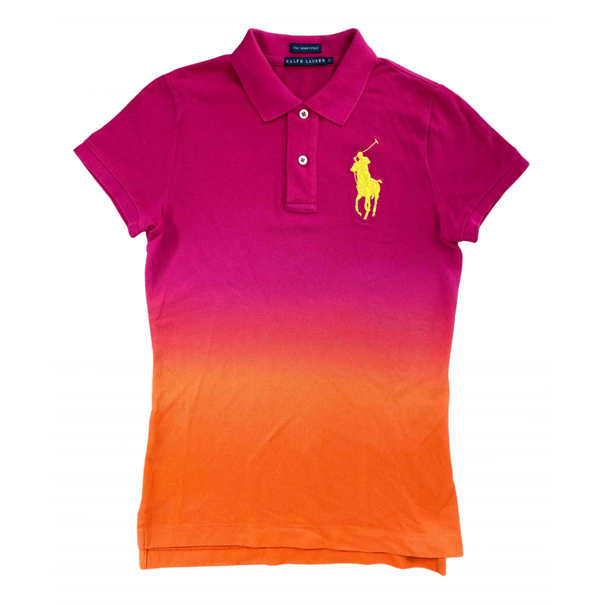 Polo Ralph Lauren Polo ajusté manches courtes Multicolour Cotton  top for Women 36 FR
