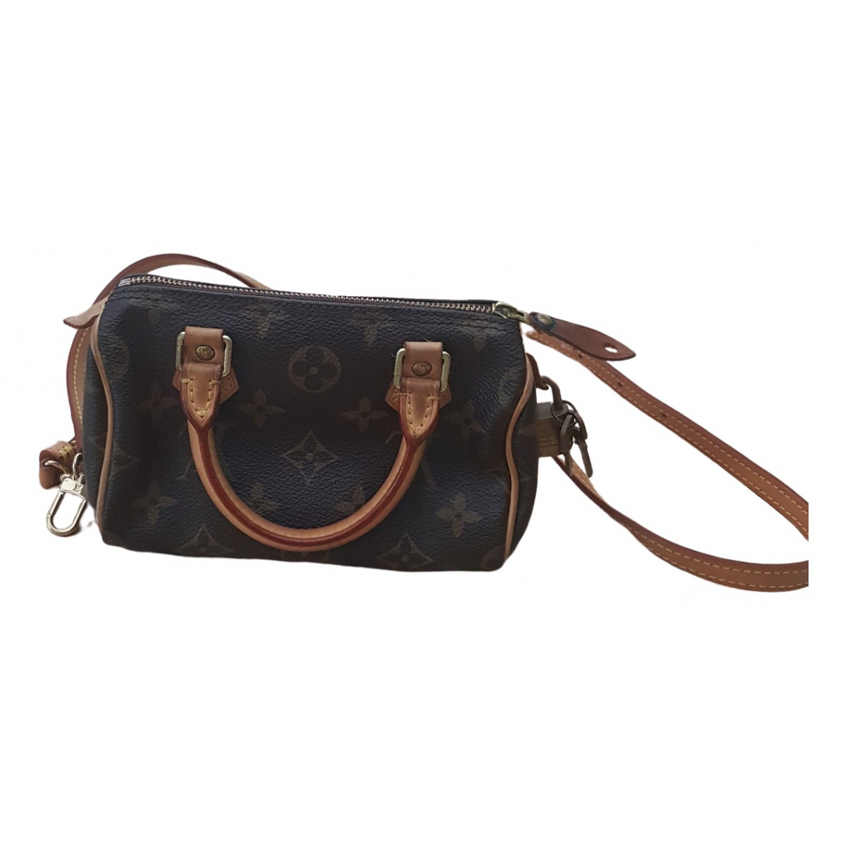 Louis Vuitton Nano Speedy / Mini HL Brown Cloth handbag for Women \N