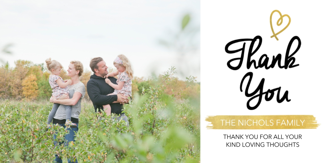Kids Thank You Cards Flat Glossy Photo Paper Cards with Envelopes, 4x8, Card & Stationery -Heavenly Arrival - Thank You