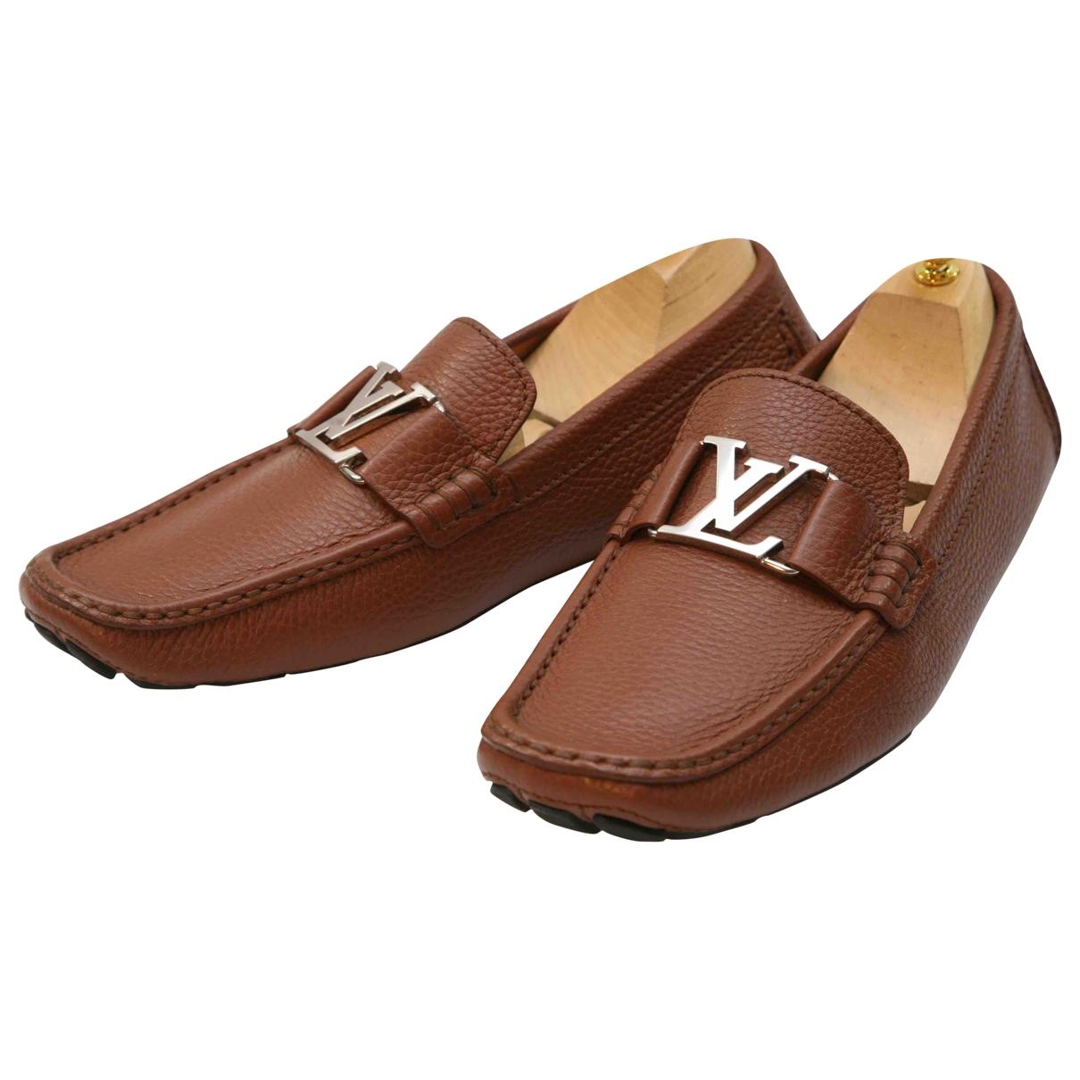 Louis Vuitton Hockenheim Brown Leather Flats for Men 7.5 UK