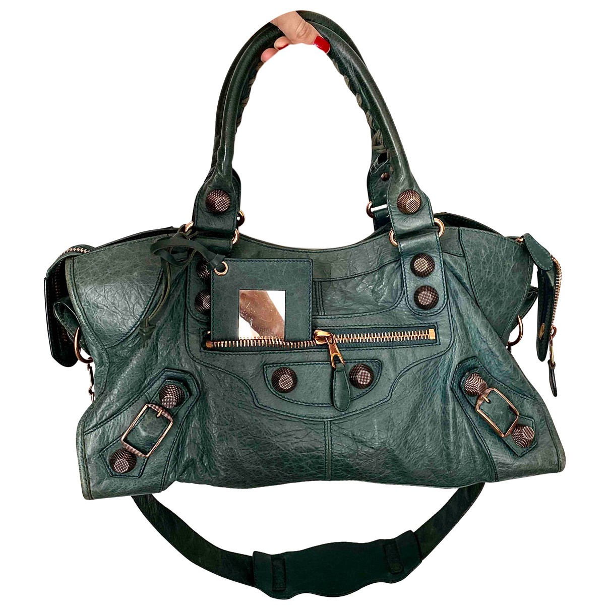 Balenciaga City Green Leather handbag for Women \N