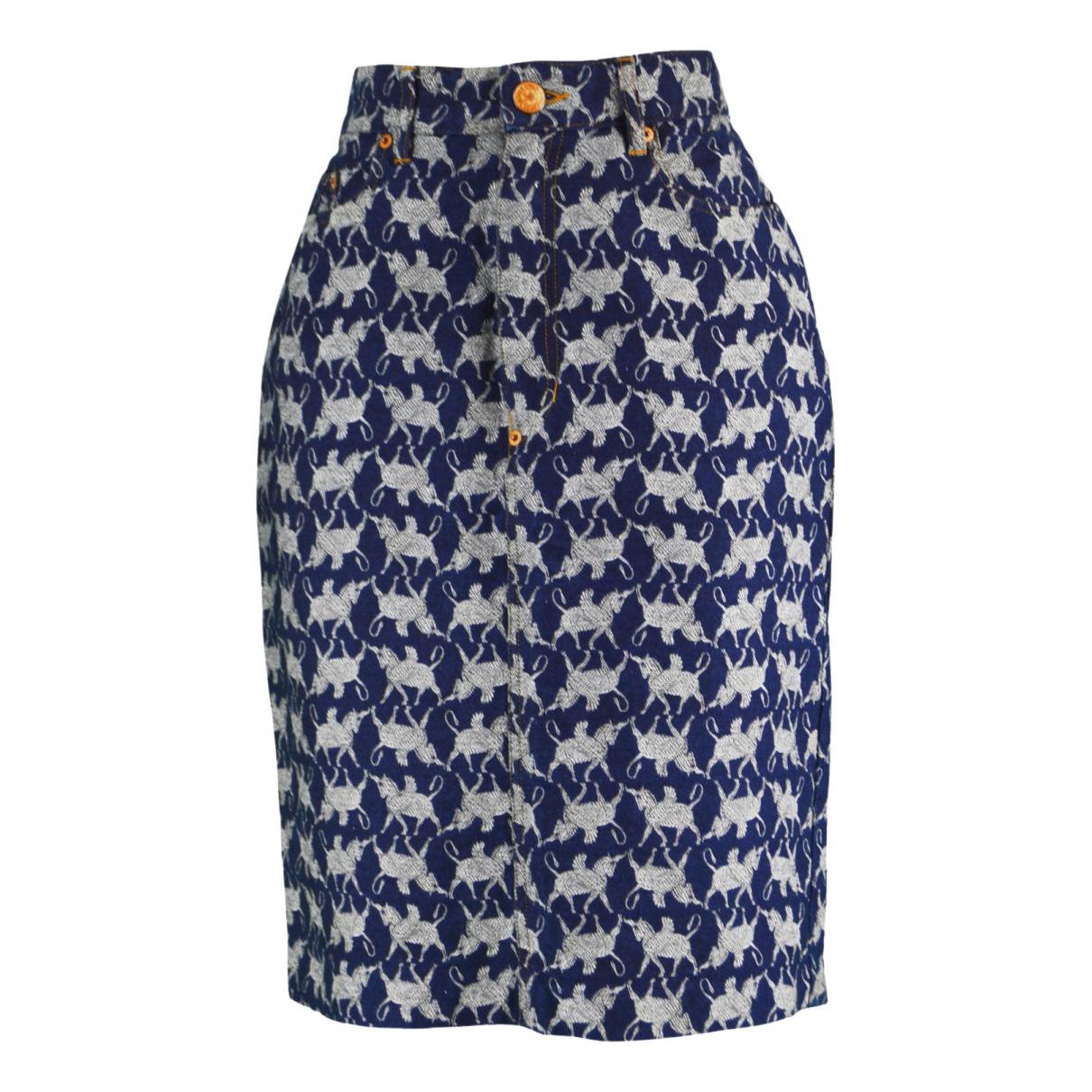 Jean Paul Gaultier - Jupe   pour femme en coton - bleu
