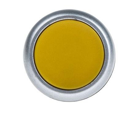 RS PRO Non-illuminated Yellow Flush Push Button Complete Unit, 1NO, 22mm Momentary Screw