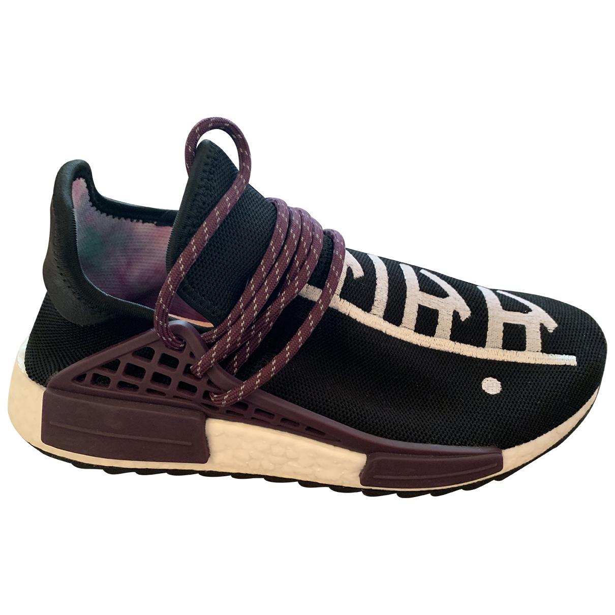 Adidas X Pharrell Williams - Baskets NMD Hu pour homme en toile - noir