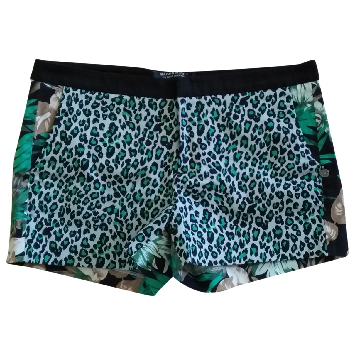 Maison Scotch \N Black Cotton - elasthane Shorts for Women S International
