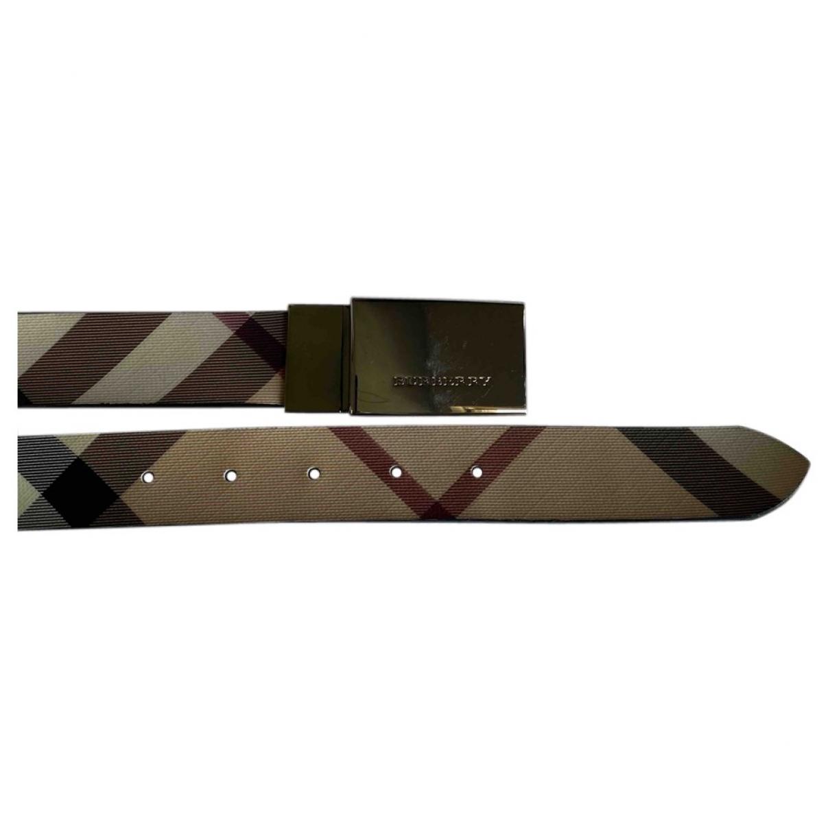 Burberry \N Beige Cloth belt for Women 90 cm