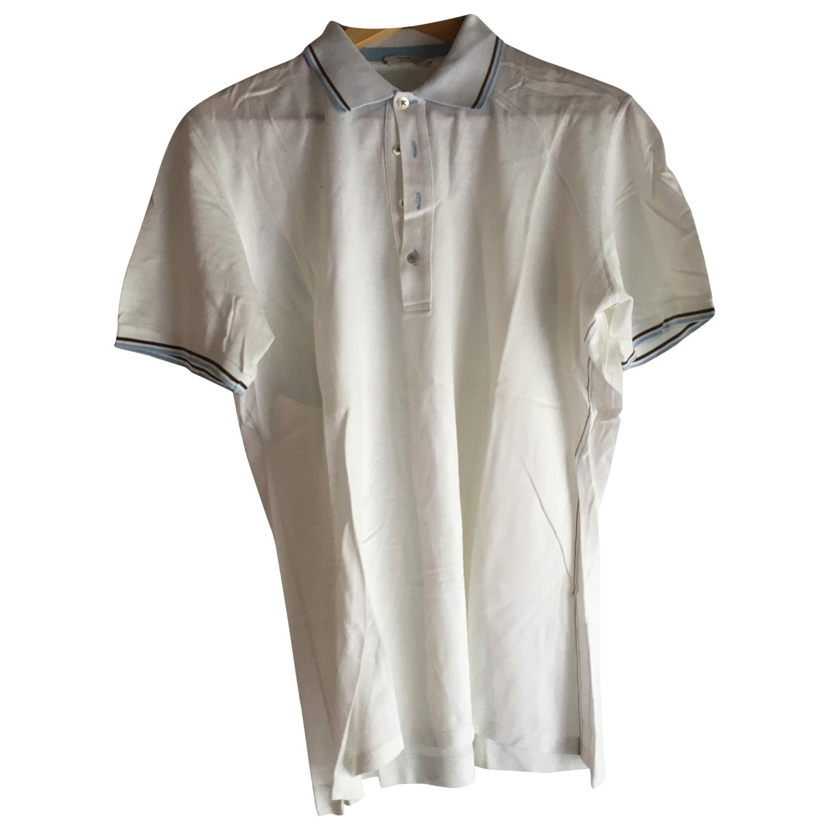 Non Signe / Unsigned \N Poloshirts in  Weiss Baumwolle
