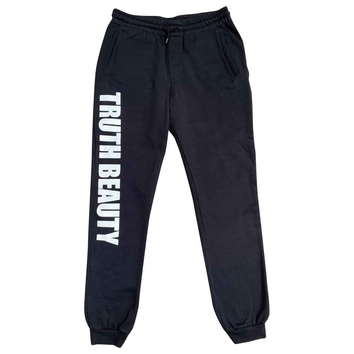 Pantalones en Algodon Negro Msgm