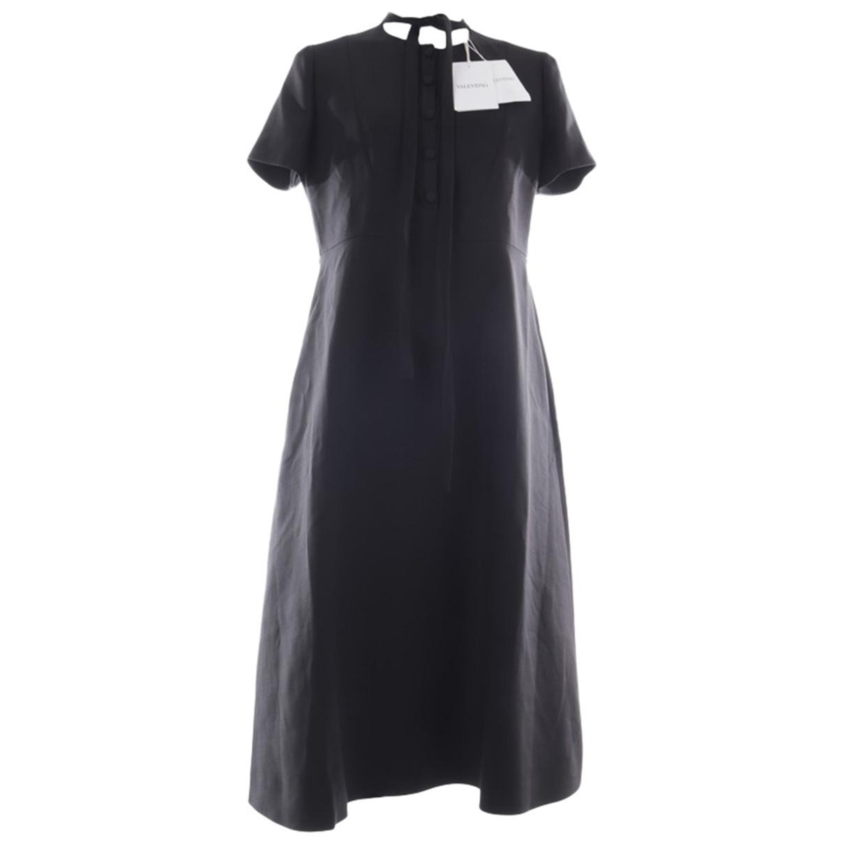 Valentino Garavani - Robe   pour femme en cuir - noir