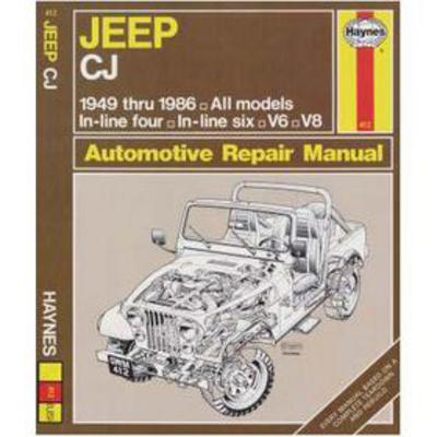 Haynes Jeep CJ Repair Manual - 50020