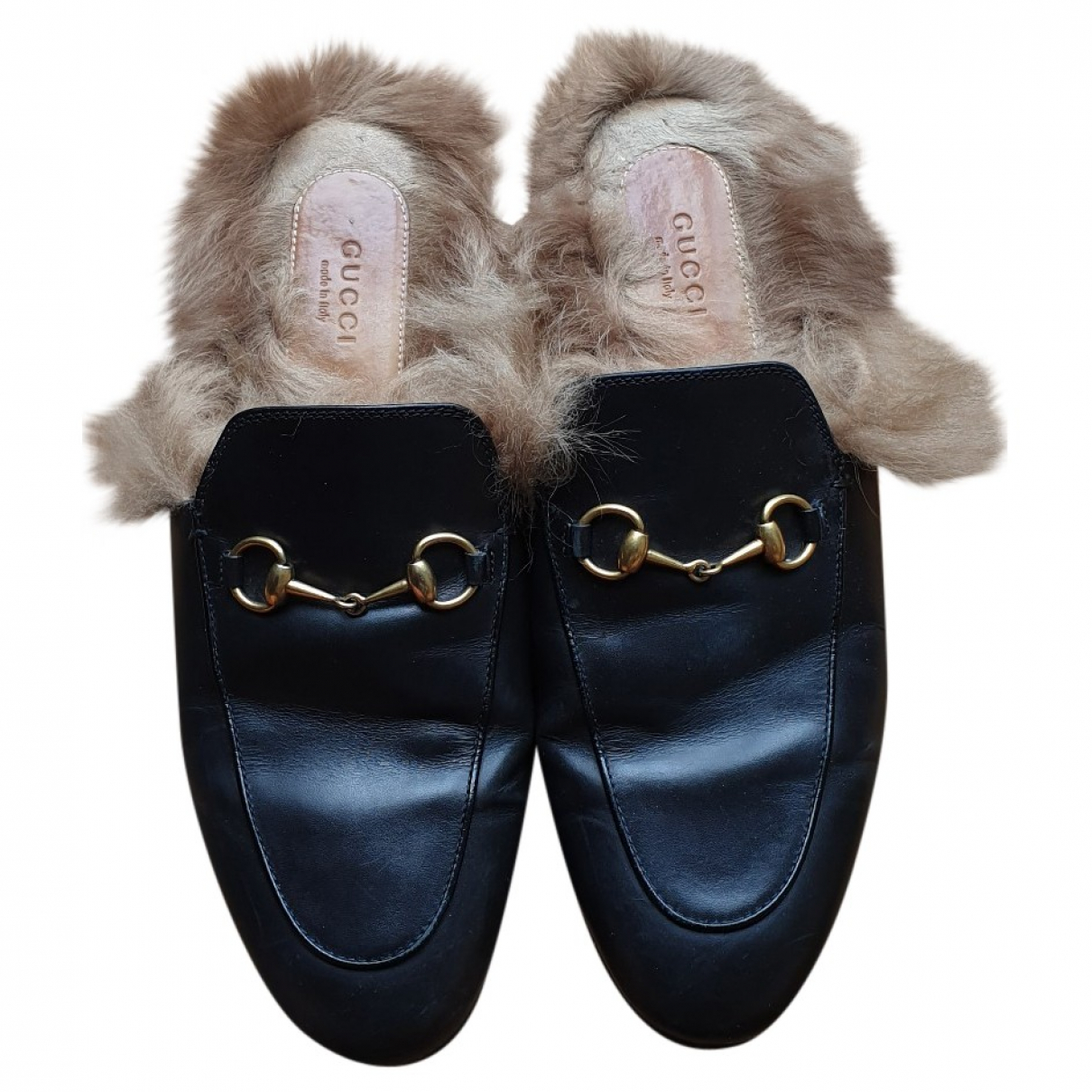 Gucci Princetown Black Leather Flats for Women 39 EU