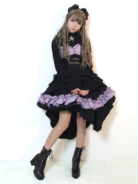 Milanoo Gothic Lolita Jsk Jumper Skirt Night Of Seraph Gothic Steampunk Lolita Jsk Original Design