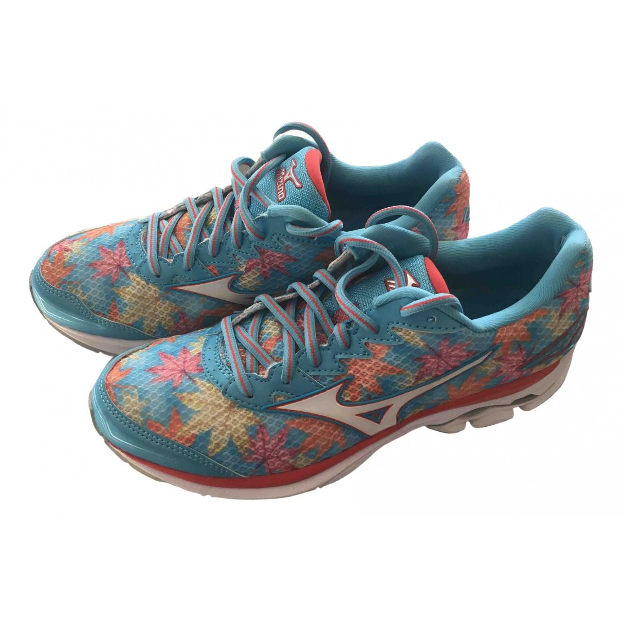 Mizuno \N Sneakers in  Blau Leinen