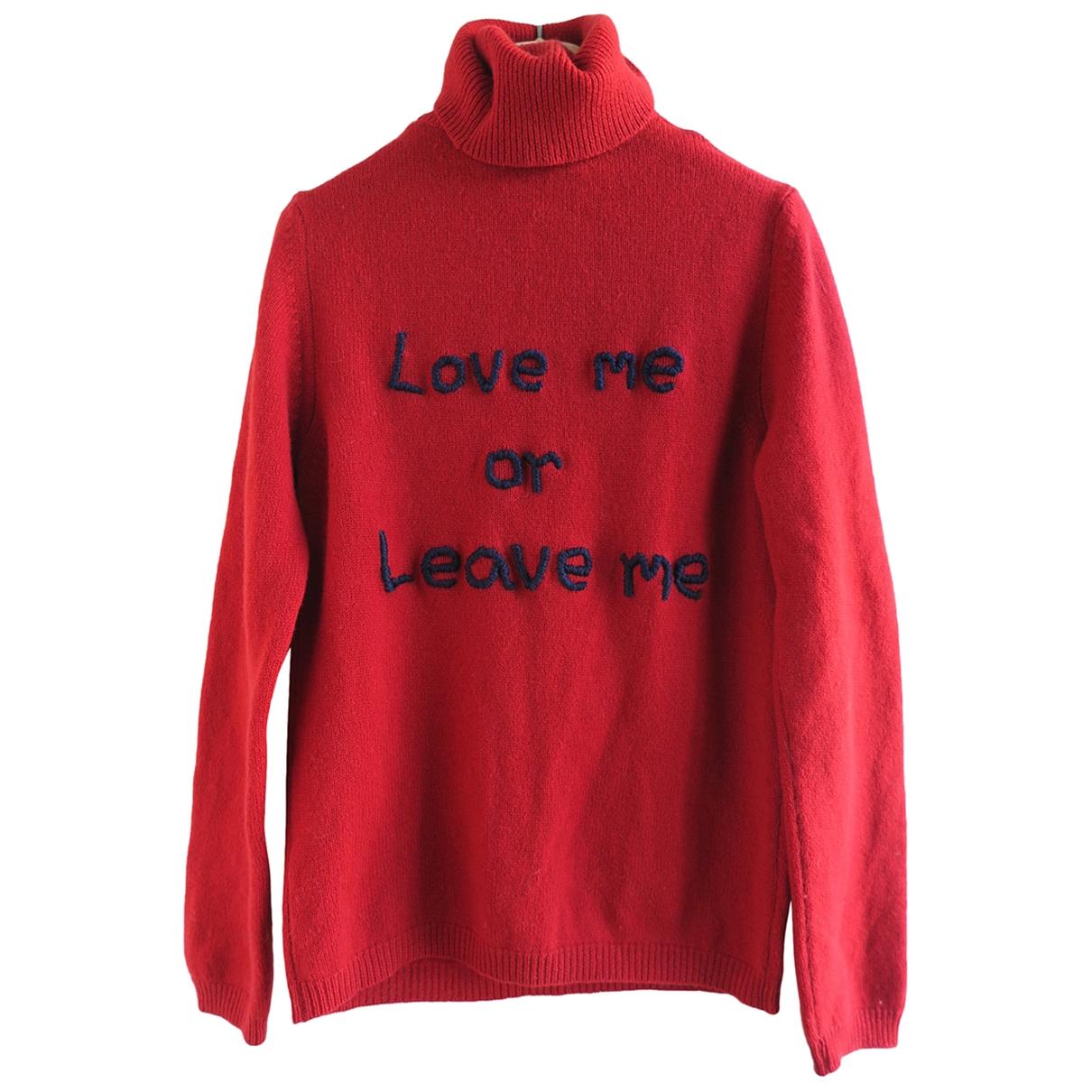 Costume National - Pull   pour femme en laine - rouge