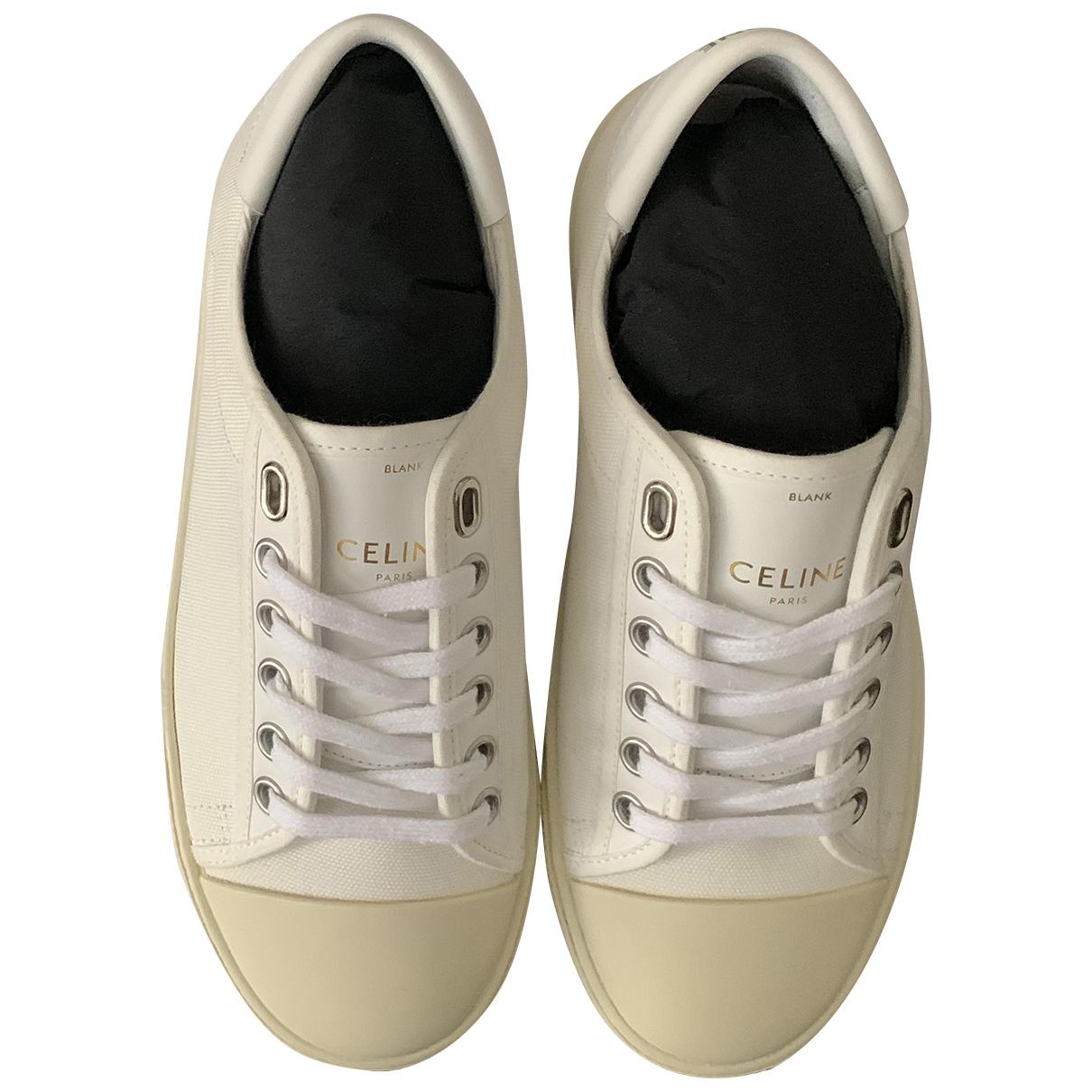 Celine \N Sneakers in  Weiss Leinen
