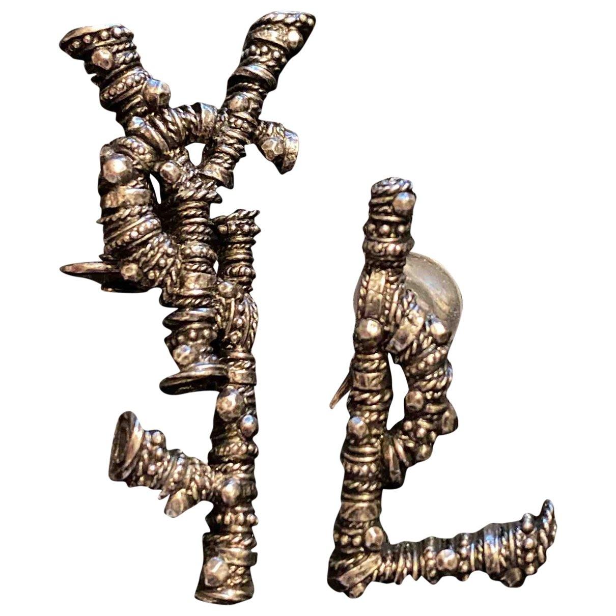 Saint Laurent Monogramme Metal Earrings for Women \N