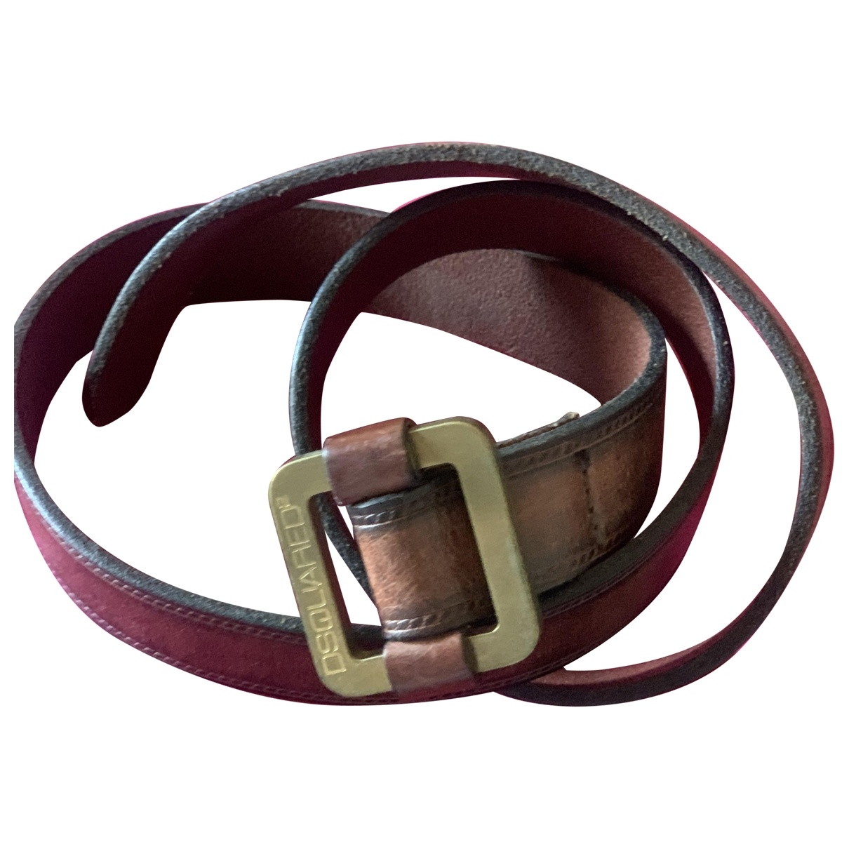 Dsquared2 \N Brown Leather belt for Women S International