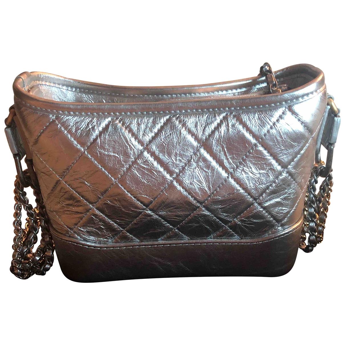 Chanel Gabrielle Silver Leather handbag for Women \N