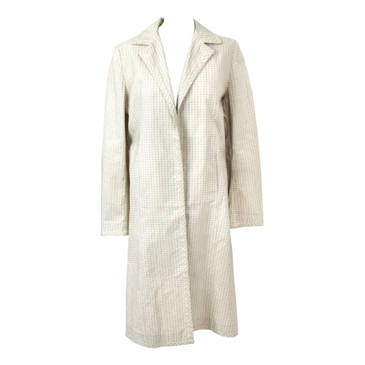 Marni - Manteau   pour femme en coton - ecru