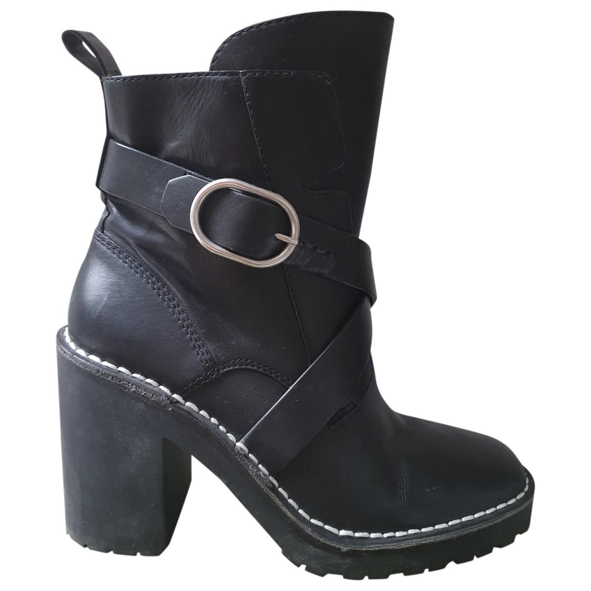 All Saints \N Black Leather Boots for Women 39 EU
