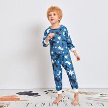 Schlafanzug Set mit Stern Muster