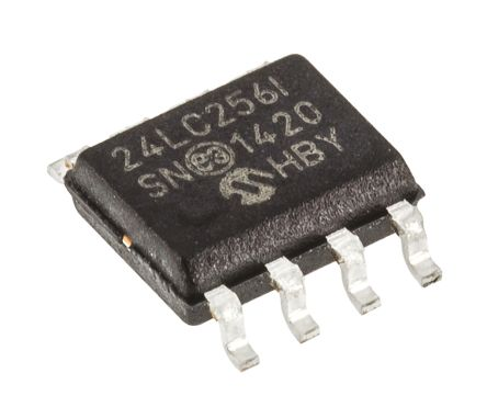 Microchip 24LC256-I/SN, 256kbit Serial EEPROM Memory, 900ns 8-Pin SOIC I2C (5)