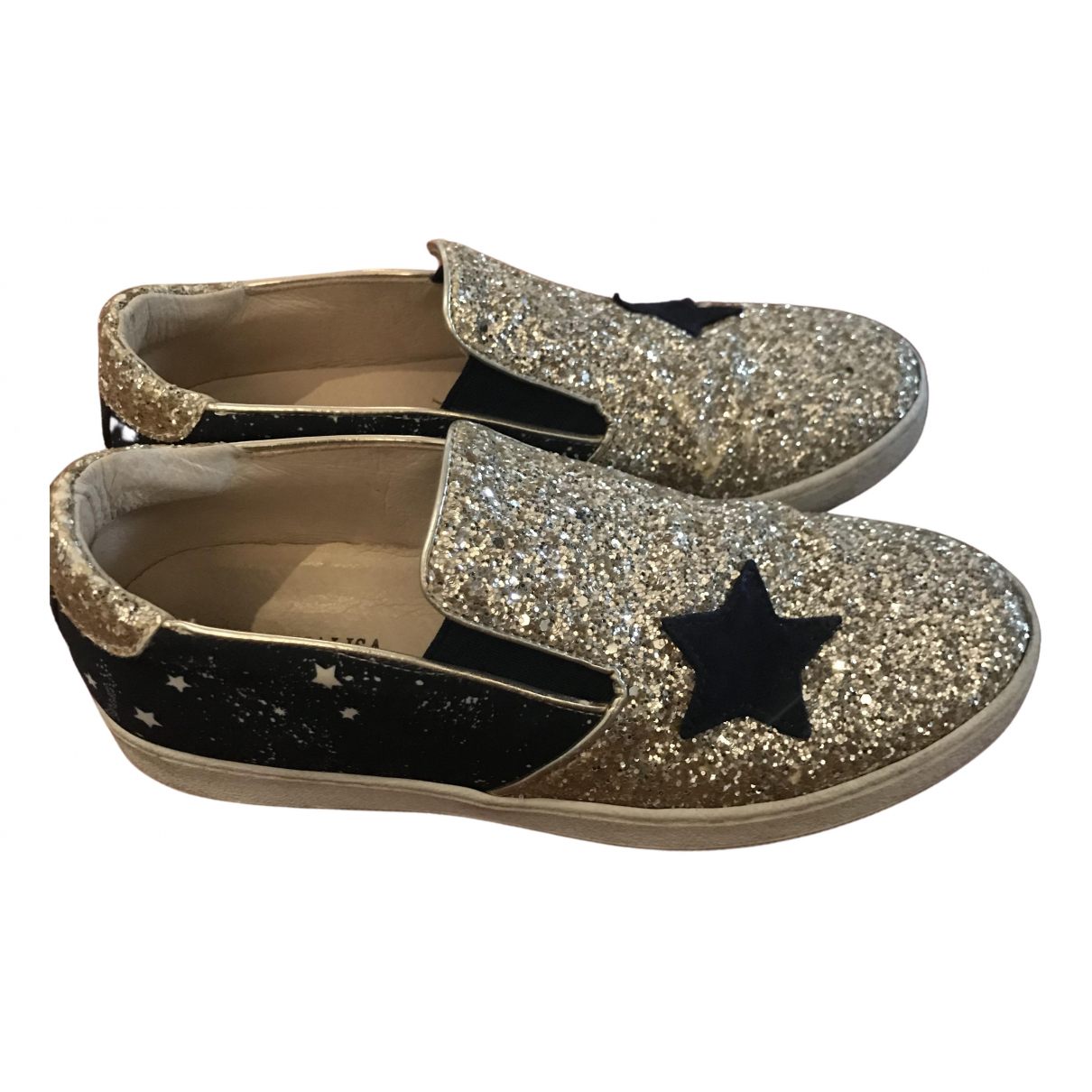Monnalisa N Gold Glitter First shoes for Kids 37 FR