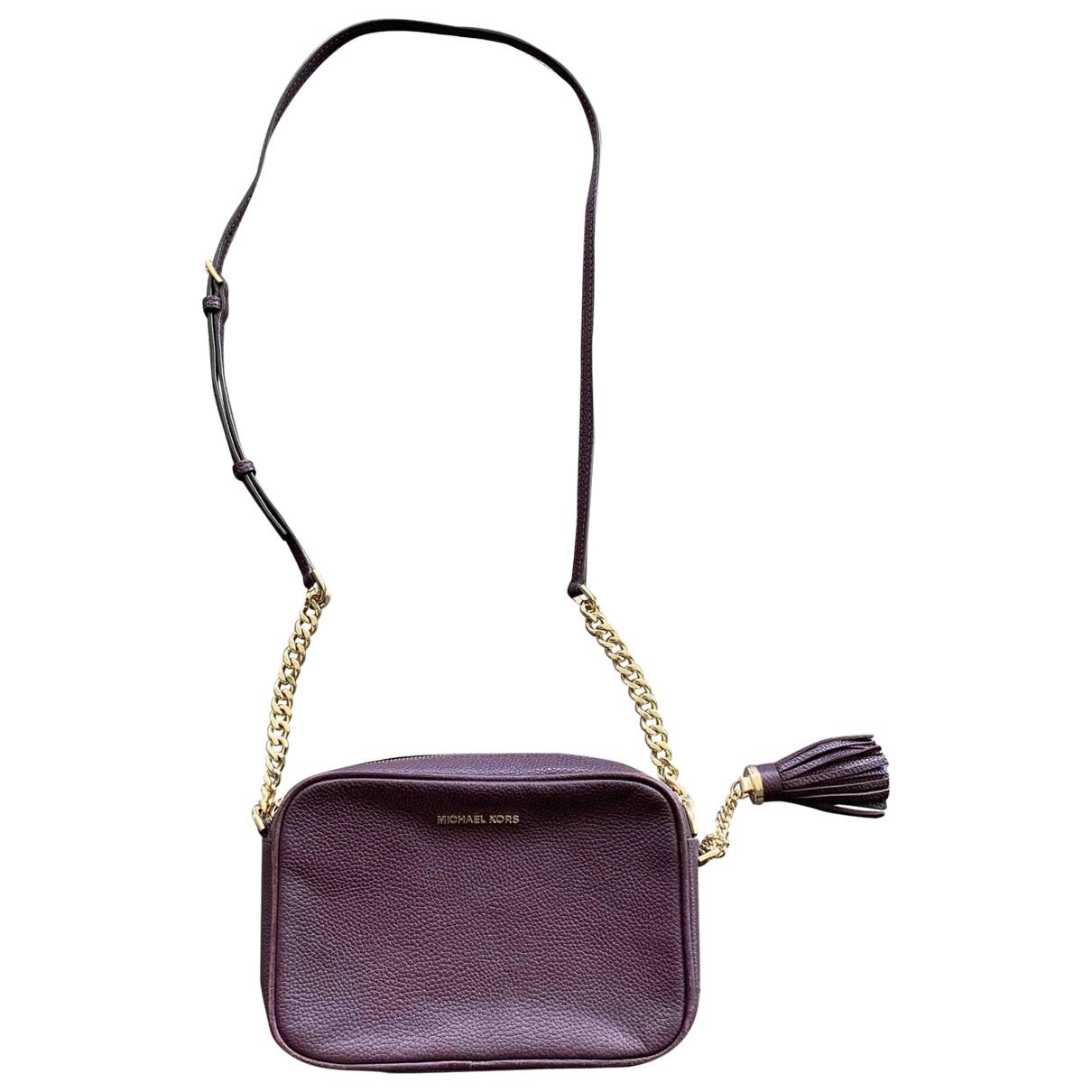 Michael Kors - Sac a main   pour femme en cuir - violet
