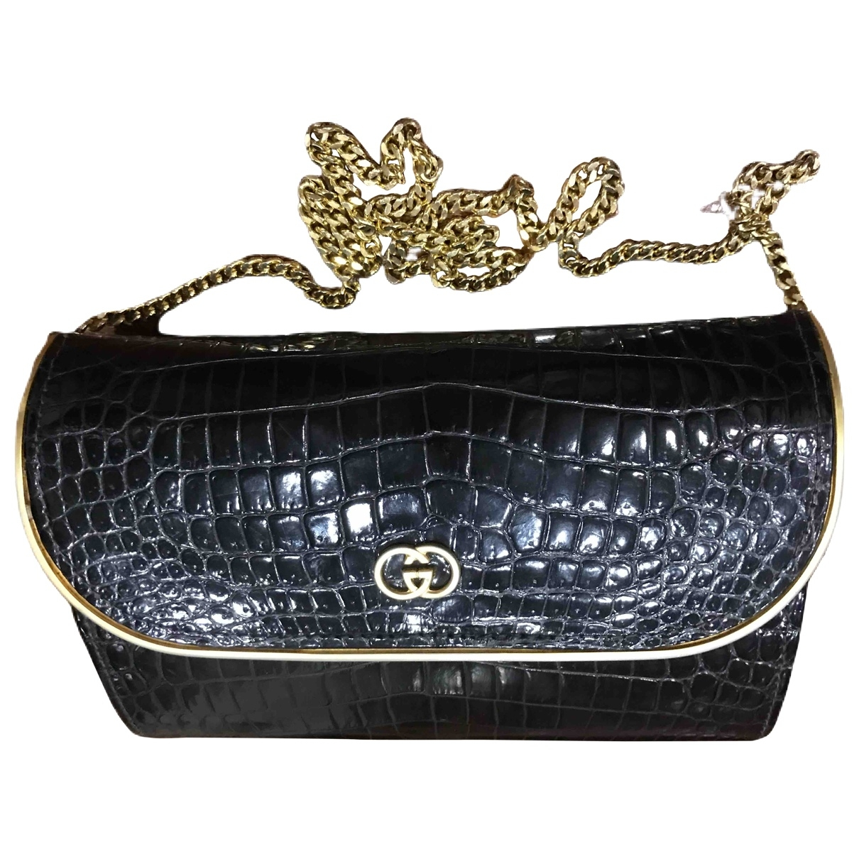 Gucci \N Black Crocodile Clutch bag for Women \N