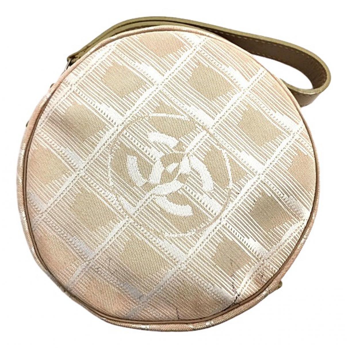 Chanel - Pochette   pour femme en toile - beige