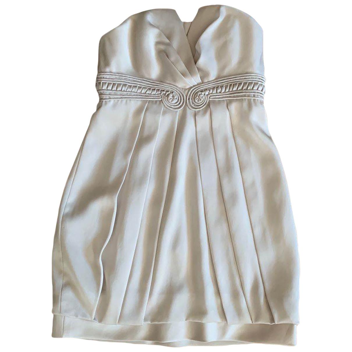 Bcbg Max Azria - Robe   pour femme - ecru
