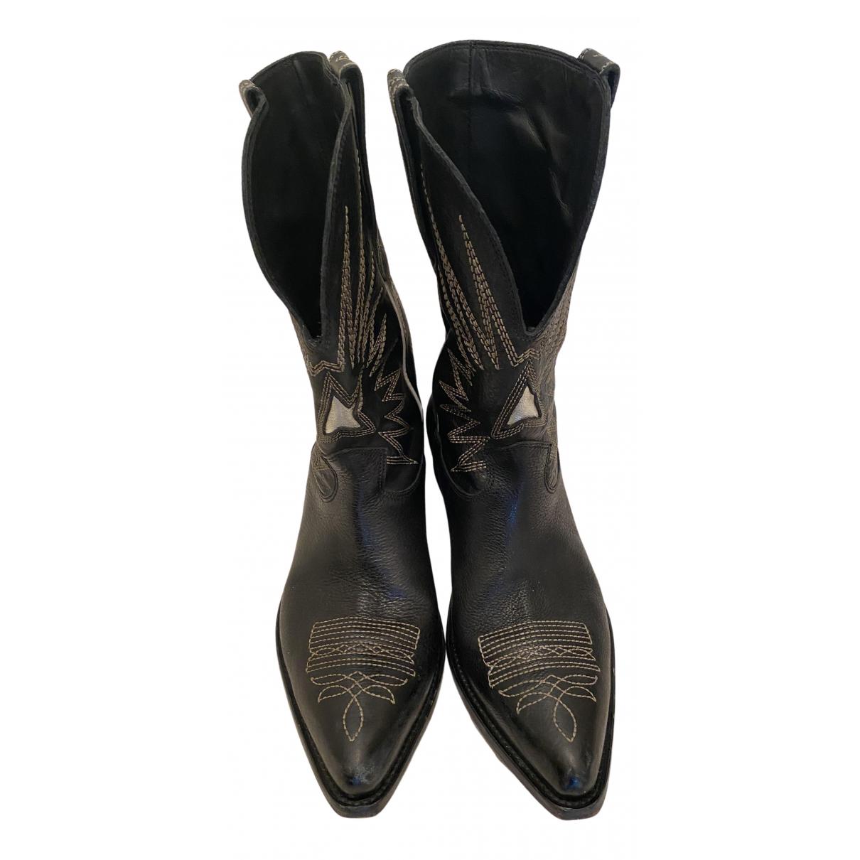 Golden Goose \N Stiefel in  Schwarz Leder