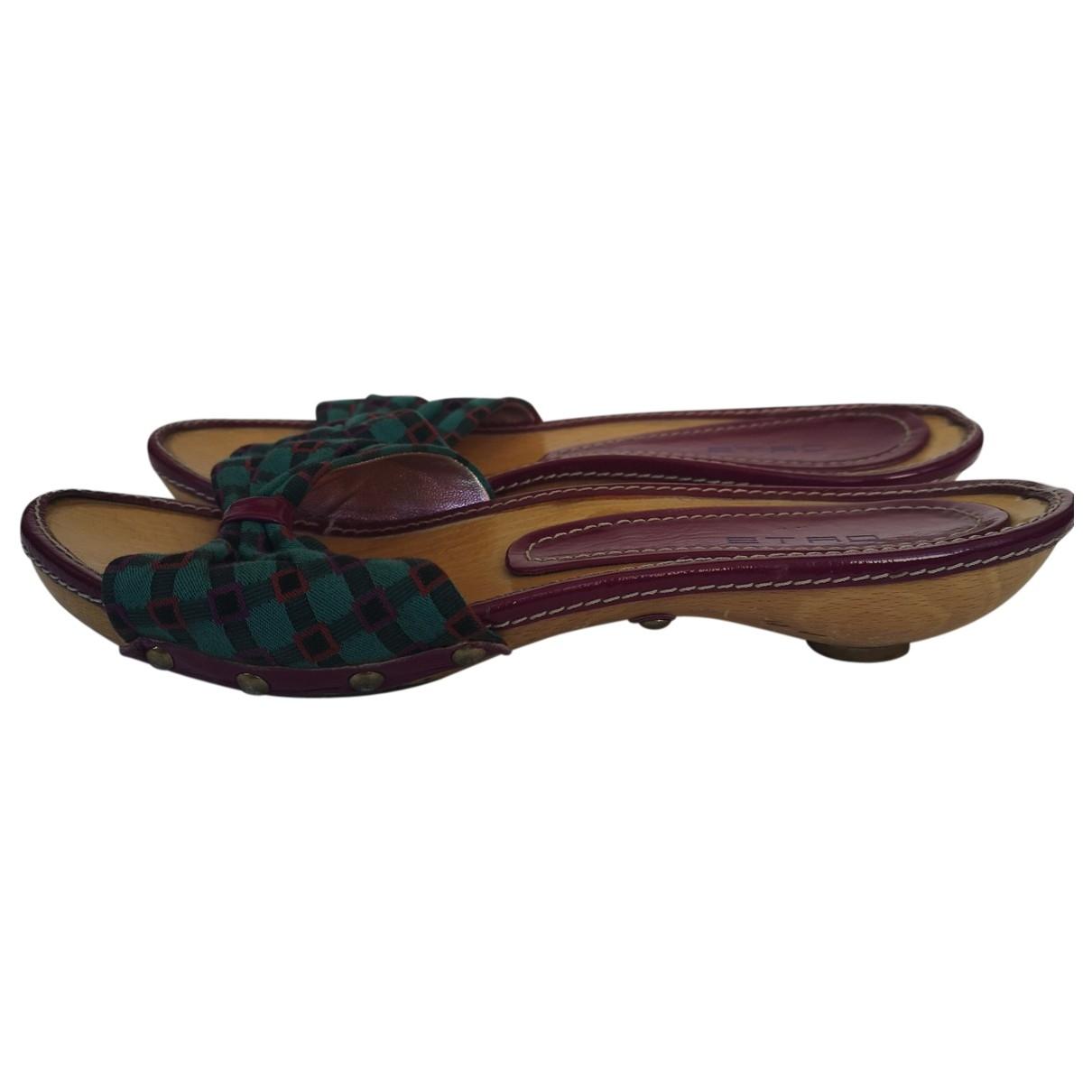 Etro \N Multicolour Cloth Sandals for Women 38 EU