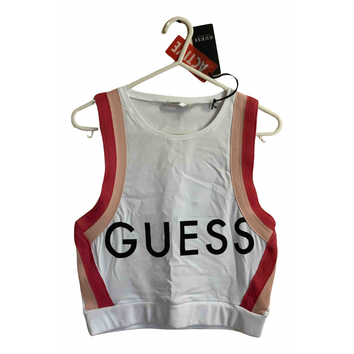 Guess N White Cotton  top for Women 38 FR