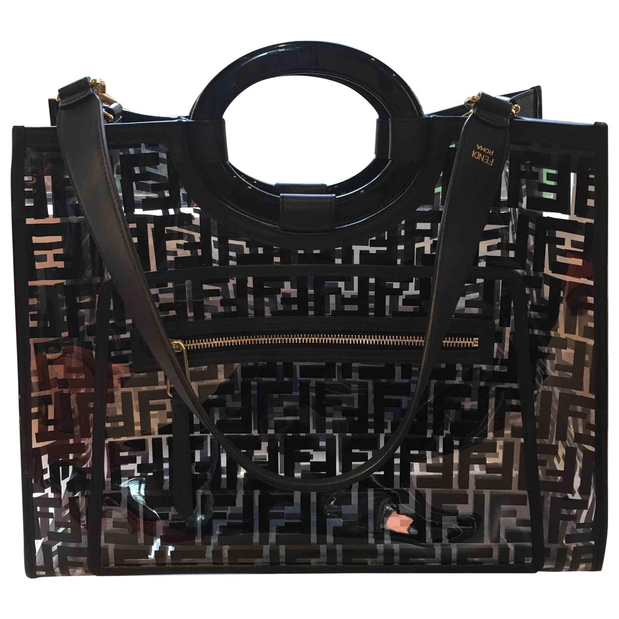 Fendi Runaway Shopping Black handbag for Women \N